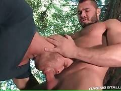 Muscled Dude Meets Hungry Bear In Wood 2