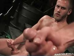 Take a look at two muscled gay bears rubbing their cocks.