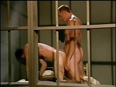 Prison inmates Dino Dimarco and Hank Hightower get very horny.
