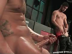 Two Hot Toned Guys Jerk Together 2
