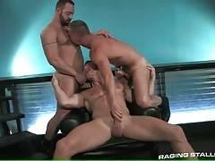 Three Big Bulls Get Too Much Turned On 1