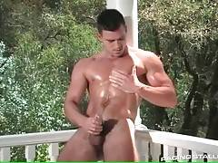 Don`t miss handsome toned Paddy O`Brian playing his dick.