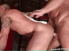Charlie is licking and fingering Caleb`s craving butt hole.