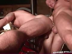 Hungry Charlie Harding enjoys the taste of Caleb Colton`s ass.